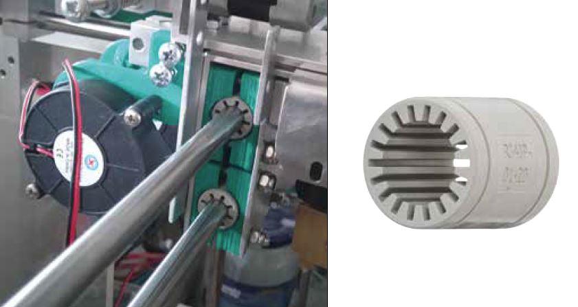 RJ4JP Lager auf Stahlwelle in 3D Drucker