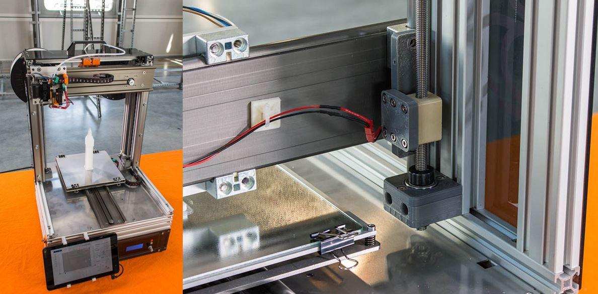 igus® Gewindespindel mit Gewindemutter aus iglidur® J in 3D Drucker