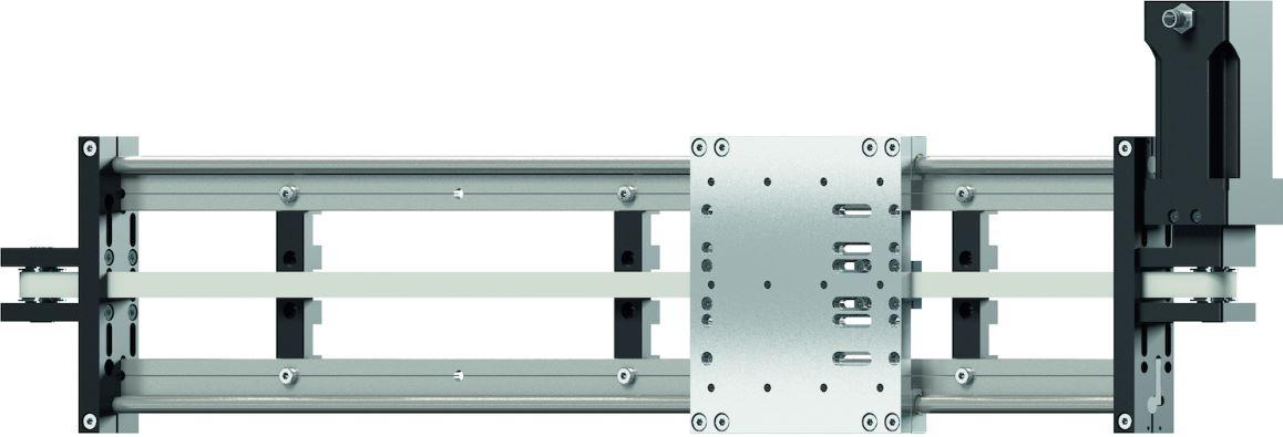 Beispiel einer drylin® Linearachse mit Motor. Die neue Baukastenachse ZLW-10120.