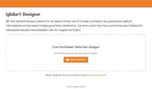 3D Druck Service iglidur® Designer