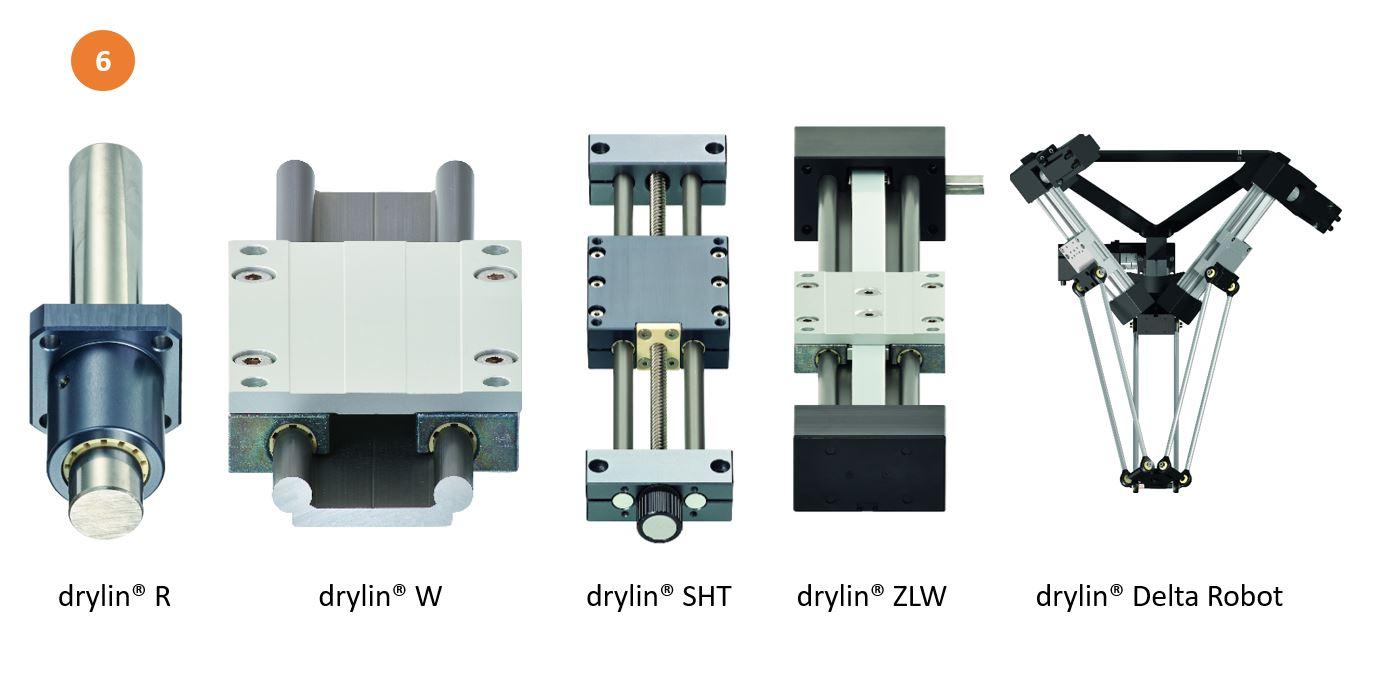 Lineargleitfolien in drylin® Lineartechnik, Antriebstechnik und Automation