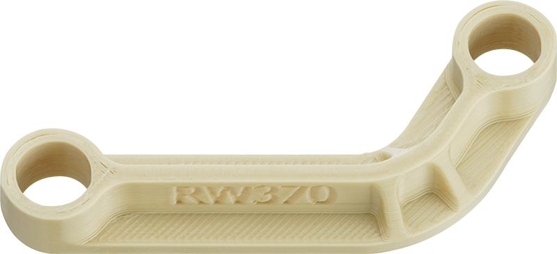 3D-gedrucktes Sonderteil aus RW370 für den Einsatz in der Bahntechnik