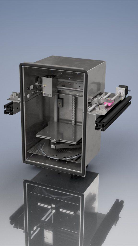 Kostengünstiger 3D-Hochtemperatur-Drucker mit igus Komponenten