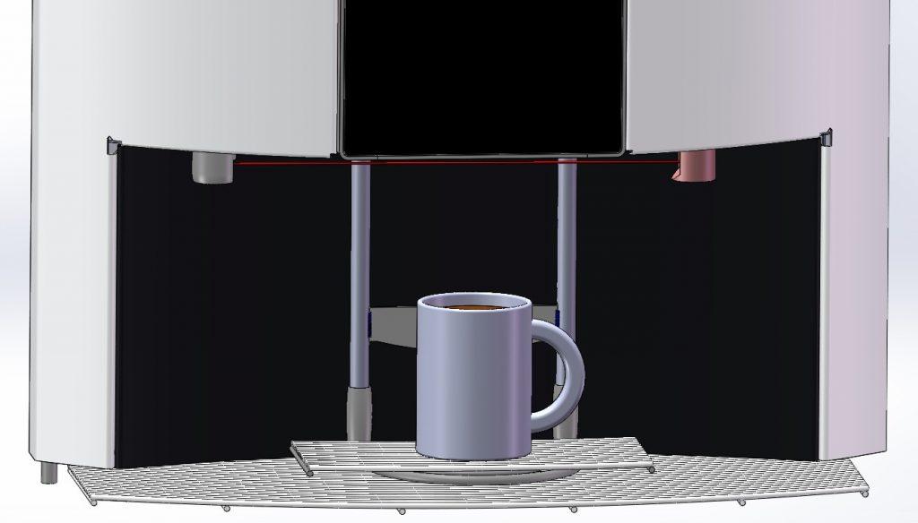 3D-gedruckte Spindel in Kaffevollautomat