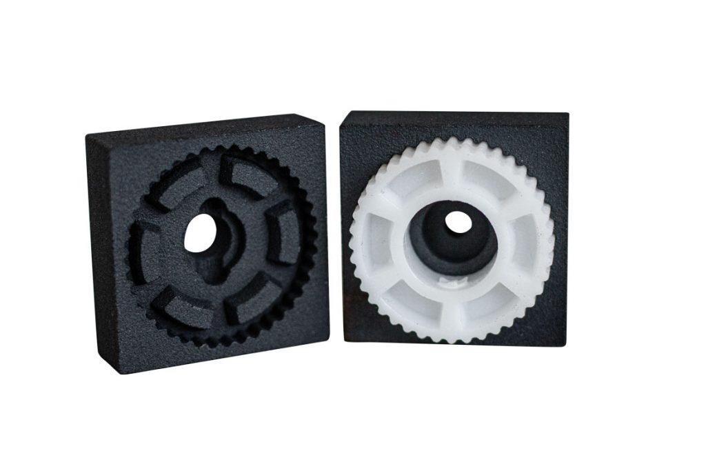 Zahnrad aus einem print2mold Spritzgusswerkzeug
