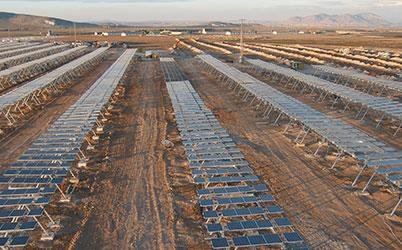 Solarfeld in der Wüste