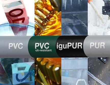 PVC und PUR im direkten Vergleich