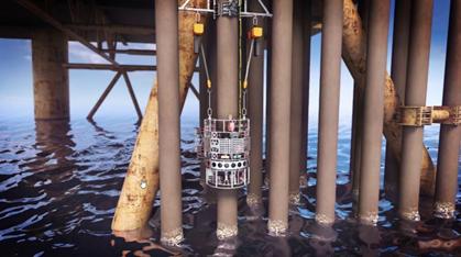 Anwendung Leitungen unter Wasser