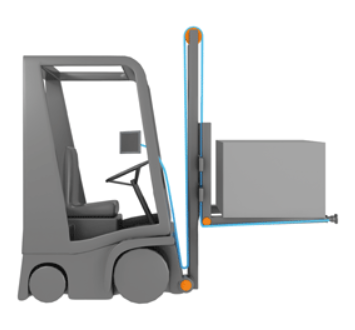 Maximum tensile strain with the example of a forklift