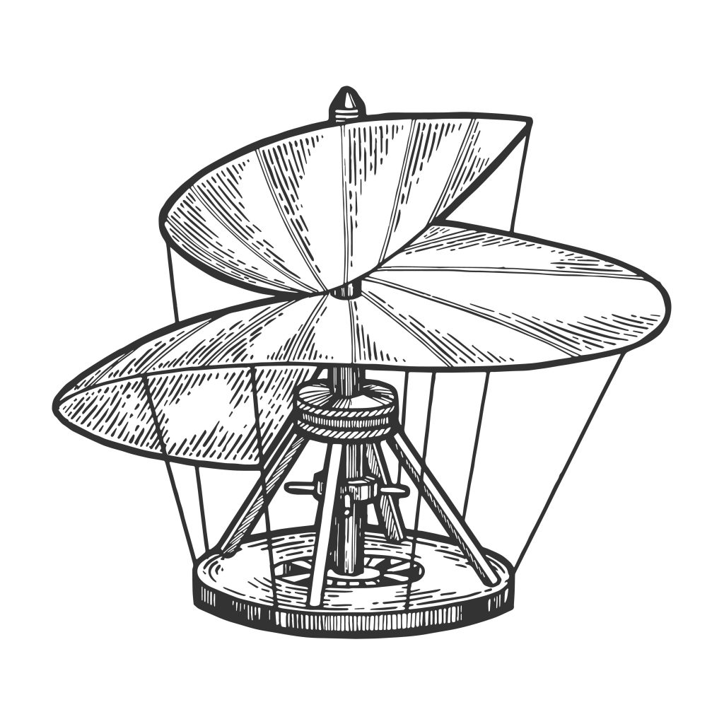 Skizze der Luftschraube von Leonardo da Vinci