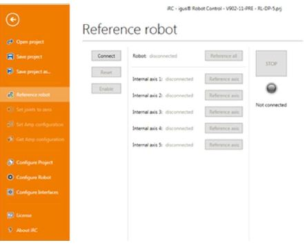 Roboter referenzieren