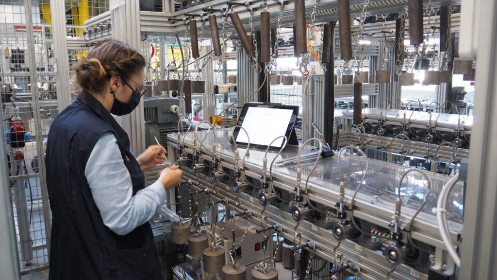 Testlabor für Kunststoff-Kugellager