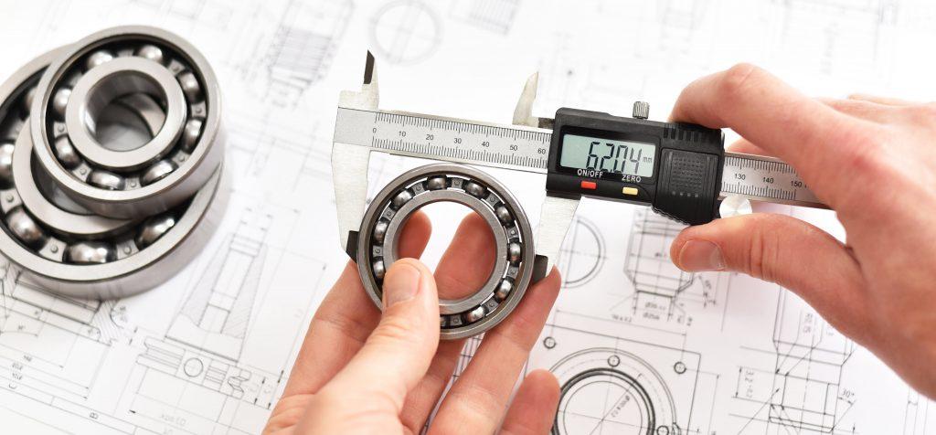 Metallische Kugellager richtig messen