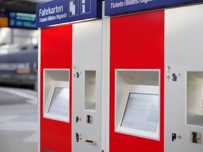 Kugellager in Fahrkartenautomaten