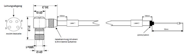 Verbindungsleitung EC.B Modul und Sensoreinheit