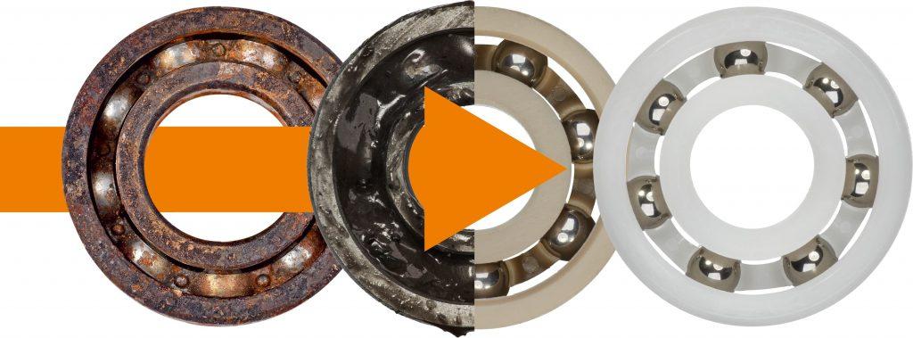 Der Wechsel von Kugellagern aus Metall zu Kunststoff