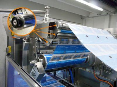 xiros Kugellager aus Kunststoff in der Folienumlenkung