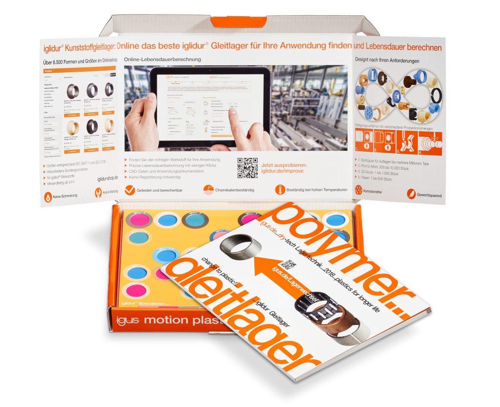 iglidur Musterbox mit Katalog